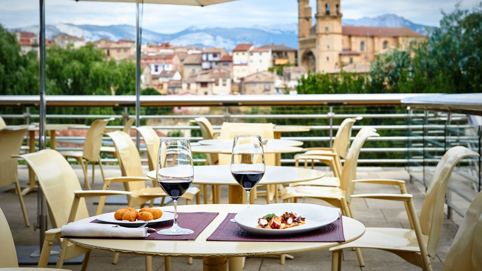 Wine Bar Terrace at Hotel Marqués de Riscal, Elciego