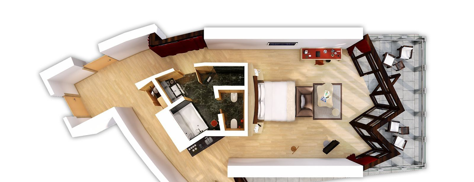 Suite Gehry 3D Floorplan